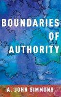 Simmons, A. John - Boundaries of Authority - 9780190603489 - V9780190603489