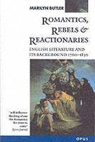Butler, Marilyn - Romantics, Rebels and Reactionaries - 9780192891327 - KCG0004085
