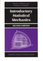Bowley, Roger; Sanchez, Mariana - Introductory Statistical Mechanics - 9780198505761 - V9780198505761