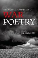 - The New Oxford Book of War Poetry (Oxford Books of Prose & Verse) - 9780198704478 - V9780198704478