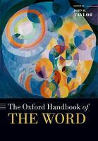 - The Oxford Handbook of the Word (Oxford Handbooks) - 9780198808633 - V9780198808633