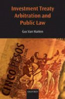 Van Harten, H.H.A. - Investment Treaty Arbitration and Public Law (Oxford Monographs in International Law) - 9780199217892 - V9780199217892