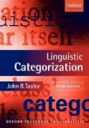 Taylor, John R. - Linguistic Categorization - 9780199266647 - V9780199266647