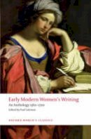 - Early Modern Women's Writing - 9780199549672 - V9780199549672
