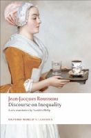 Rousseau, Jean-Jacques - Discourse on the Origin of Inequality - 9780199555420 - V9780199555420