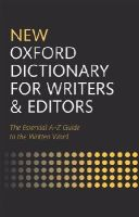 - New Oxford Dictionary for Writers and Editors - 9780199570010 - V9780199570010