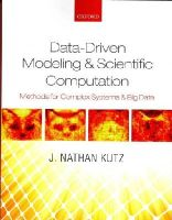Kutz, J. Nathan - Data-Driven Modeling & Scientific Computation: Methods for Complex Systems & Big Data - 9780199660346 - V9780199660346