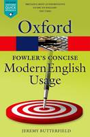 - Fowler's Concise Dictionary of Modern English Usage - 9780199666317 - V9780199666317