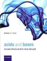 Cox, Brian G. - Acids and Bases - 9780199670529 - V9780199670529