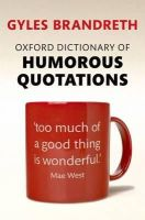 - Oxford Dictionary of Humorous Quotations - 9780199681372 - V9780199681372