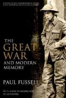 Fussell, Paul - The Great War and Modern Memory - 9780199971954 - V9780199971954