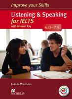 Preshous, Joanna - Improve Your Skills: Listening & Speaking for IELTS 6.0-7.5 Student's Book with Key & MPO Pack - 9780230463424 - V9780230463424