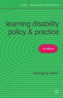 Williams, Valerie, Johnson, Kelley - Learning Disability Policy and Practice: Changing Lives? (Interagency Working in Health and Social Care) - 9780230575554 - V9780230575554