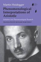 Heidegger, Martin - Phenomenological Interpretations of Aristotle - 9780253221155 - V9780253221155