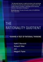 Stanovich, Keith E., West, Richard F., Toplak, Maggie E. - The Rationality Quotient: Toward a Test of Rational Thinking (MIT Press) - 9780262034845 - V9780262034845