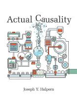 Halpern, Joseph Y. - Actual Causality (MIT Press) - 9780262035026 - V9780262035026