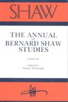 Weintraub - Shaw:  The Annual of Bernard Shaw Studies, Vol 6 - 9780271004266 - KHS1024063