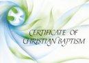 - Ecumenical Certificate of Baptism - 9780281046119 - V9780281046119