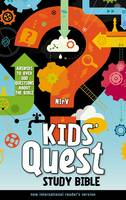 Zondervan - NIrV, Kids' Quest Study Bible, Hardcover: Answers to over 500 Questions about the Bible - 9780310744856 - V9780310744856