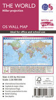 Ordnance Survey - The World Miller Projection (OS Wall Map) - 9780319148389 - V9780319148389