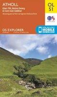 Ordnance Survey - Atholl, Glen Tilt, Beinn Dearg & Carn nan Gabhar (OS Explorer Map) - 9780319242902 - V9780319242902