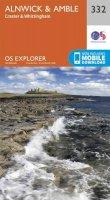ORDNANCE SURVEY - Alnwick and Amble, Craster and Whittingham (OS Explorer Map) - 9780319245842 - V9780319245842