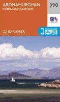 ORDNANCE SURVEY - Ardnamurchan, Moidart, Sunart and Loch Shiel (OS Explorer Map) - 9780319246337 - V9780319246337