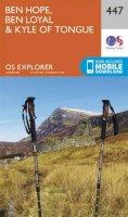 Ordnance Survey - Ben Hope, Ben Loyal and Kyle of Tongue (OS Explorer Map) - 9780319246900 - V9780319246900