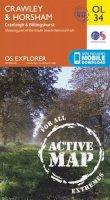 Ordnance Survey - Crawley & Horsham, Cranleigh & Billingshurst (OS Explorer Map Active) - 9780319469521 - V9780319469521
