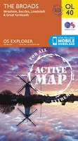 Ordnance Survey - The Boards, Wroxham, Beccles, Lowestoft & Great Yarmouth (OS Explorer Map Active) - 9780319469583 - V9780319469583