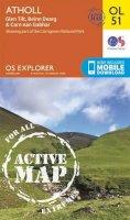 Ordnance Survey - Atholl, Glen Tilt, Beinn Dearg & Carn nan Gabhar (OS Explorer Map Active) - 9780319469699 - V9780319469699