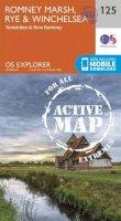 ORDNANCE SURVEY - Romney Marsh, Rye and Winchelsea (OS Explorer Active Map) - 9780319470008 - V9780319470008