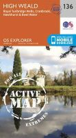 Ordnance Survey - High Weald, Royal Tunbridge Wells (OS Explorer Active Map) - 9780319470084 - V9780319470084
