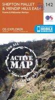 Ordnance Survey - Shepton Mallet and Mendip Hills East (OS Explorer Active Map) - 9780319470145 - V9780319470145