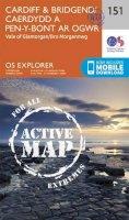 Ordnance Survey - Cardiff and Bridgend/Caerdydd a Phen-y-Bont Ar Ogwr (OS Explorer Active Map) - 9780319470237 - V9780319470237