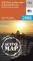 ORDNANCE SURVEY - Weston-Super-Mare and Bleadon Hill (OS Explorer Active Map) - 9780319470251 - V9780319470251