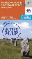 ORDNANCE SURVEY - Marlborough and Savernake Forest (OS Explorer Active Map) - 9780319470299 - V9780319470299
