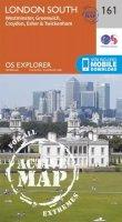 Ordnance Survey - London South, Westminster, Greenwich, Croydon, Esher & Twickenham (OS Explorer Active Map) - 9780319470336 - V9780319470336