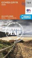 ORDNANCE SURVEY - Gower, Llanelli (OS Explorer Active Map) - 9780319470367 - V9780319470367