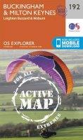 ORDNANCE SURVEY - Buckingham and Milton Keynes (OS Explorer Active Map) - 9780319470640 - V9780319470640