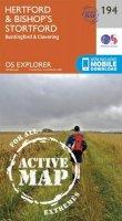 ORDNANCE SURVEY - Hertford and Bishop's Stortford (OS Explorer Active Map) - 9780319470664 - V9780319470664
