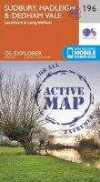 Ordnance Survey - Sudbury, Hadleigh and Dedham Vale (OS Explorer Active Map) - 9780319470688 - V9780319470688
