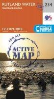 ORDNANCE SURVEY - Rutland Water, Stamford and Oakham (OS Explorer Active Map) - 9780319471067 - V9780319471067