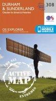 Ordnance Survey - Durham and Sunderland (OS Explorer Active Map) - 9780319471807 - V9780319471807
