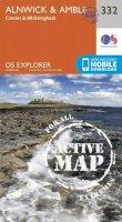 ORDNANCE SURVEY - Alnwick and Amble, Craster and Whittingham (OS Explorer Active Map) - 9780319472040 - V9780319472040