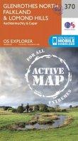 Ordnance Survey - Glenrothes North, Falkland and Lomond Hills (OS Explorer Active Map) - 9780319472378 - V9780319472378