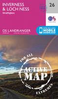 ORDNANCE SURVEY - Inverness & Loch Ness, Strathglass (OS Landranger Active Map) - 9780319473498 - V9780319473498