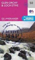 ORDNANCE SURVEY - Glen Orchy & Loch Etive (OS Landranger Active Map) - 9780319473733 - V9780319473733