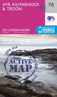 Ordnance Survey - Ayr, Kilmarnock & Troon (OS Landranger Active Map) - 9780319473931 - V9780319473931