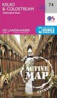 Ordnance Survey - Kelso & Coldstream, Jedburgh & Duns (OS Landranger Active Map) - 9780319473979 - V9780319473979